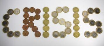 Crisis financiera Foto de archivo libre de regalías