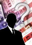Crisis financiera Fotos de archivo libres de regalías