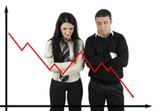 Crisis financiera Imagen de archivo libre de regalías