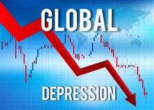 Crisis financiera del hundimiento económico Imagen de archivo