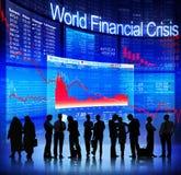Crisis financiera del mundo Imagenes de archivo
