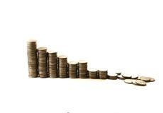 Crisis financiera. derrumbamiento de la inversión Foto de archivo libre de regalías