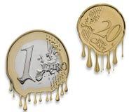 Crisis financiera euro Foto de archivo libre de regalías