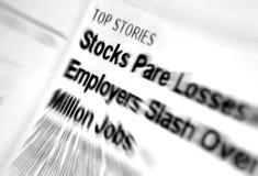 Crisis financieras Fotografía de archivo libre de regalías