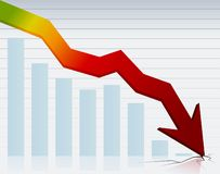 Crisis graph. Financial and economy crisis graph Royalty Free Stock Image
