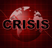 Crisis Graph Represents Investment Finance And Problems. Crisis Graph Indicating Difficult Situation And Issue Stock Image