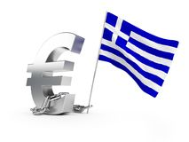 Crisis in Greece. On a white background Stock Image
