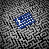 Crisis griega ilustración del vector