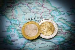 Crisis griega de la deuda Fotografía de archivo libre de regalías