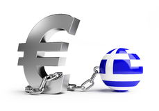 Crisis Griekenland Royalty-vrije Stock Foto's