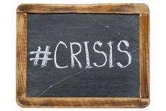 Crisis hashtag Fr Royalty-vrije Stock Afbeeldingen