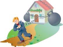 Crisis hipotecaria Ilustración del Vector