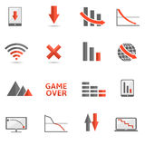 Crisis icons Stock Photography