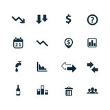 Crisis icons set Royalty Free Stock Photos