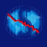 Crisis impacting on world. US capital crisis impacting on world  illustration Stock Photography