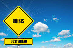 Crisis just ahead Stock Image