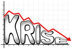 Crisis - Krise (german language) Royalty Free Stock Photo