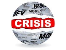 Crisis label stock image