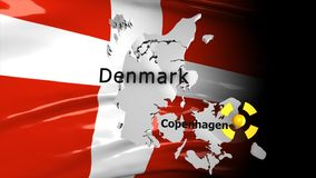 Crisis location map series, Denmark. stock footage