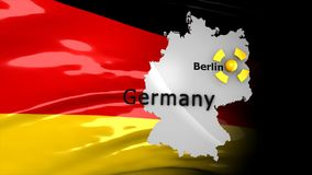 Crisis location map series, Germany. stock footage