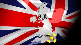 Crisis location map series, UK. Crisis location map series, UK, Computer generated stock footage
