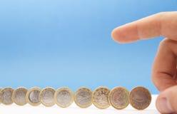 Crisis monetaria Fotografía de archivo libre de regalías