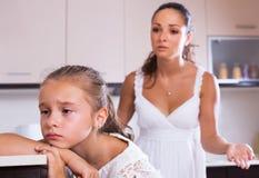Crisis of motherhood Stock Image