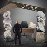 Crisis office Stock Image