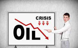 Crisis oil chart Stock Photography