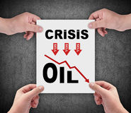 Crisis oil chart Royalty Free Stock Photos