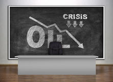 Crisis oil chart Royalty Free Stock Photography