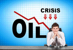 Crisis oil chart Royalty Free Stock Images