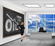 Crisis oil chart Stock Photo