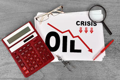 Crisis of oil Royalty Free Stock Photography
