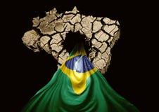crisis op de Braziliaanse natie Stock Afbeeldingen
