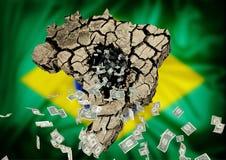 crisis op de Braziliaanse natie Royalty-vrije Stock Fotografie