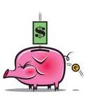 Crisis Pig. Pig as symbol of financial crisis Royalty Free Stock Images