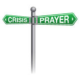 Crisis and Prayer Concept Illustration Royalty Free Stock Photography