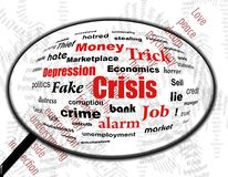 Crisis problems in zoom Royalty Free Stock Photos