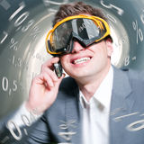 Crisis proof businessman. Person of business positively disposed Stock Photos
