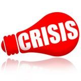 Crisis red lamp signal stock illustration