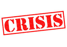 CRISIS. Red Rubber Stamp over a white background Stock Image