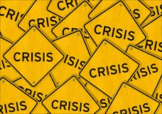 CRISIS road sign attention. Illustration Stock Photography