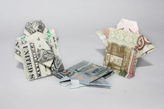 The crisis in Russia. The fall of the ruble in Russia Stock Photography