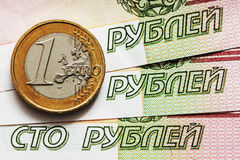 The crisis of the Russian economy Stock Photos