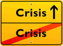 Crisis sign Stock Image