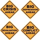 Crisis Signs. Illustration clip-art vector Royalty Free Stock Photos