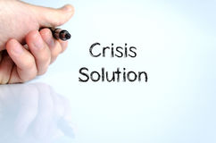 Crisis solution text concept Stock Photo