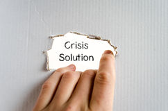 Crisis solution text concept Stock Image
