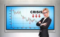 Crisis stock chart Stock Image